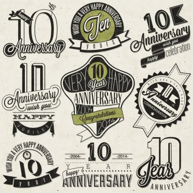 Vintage style 10 anniversary collection.