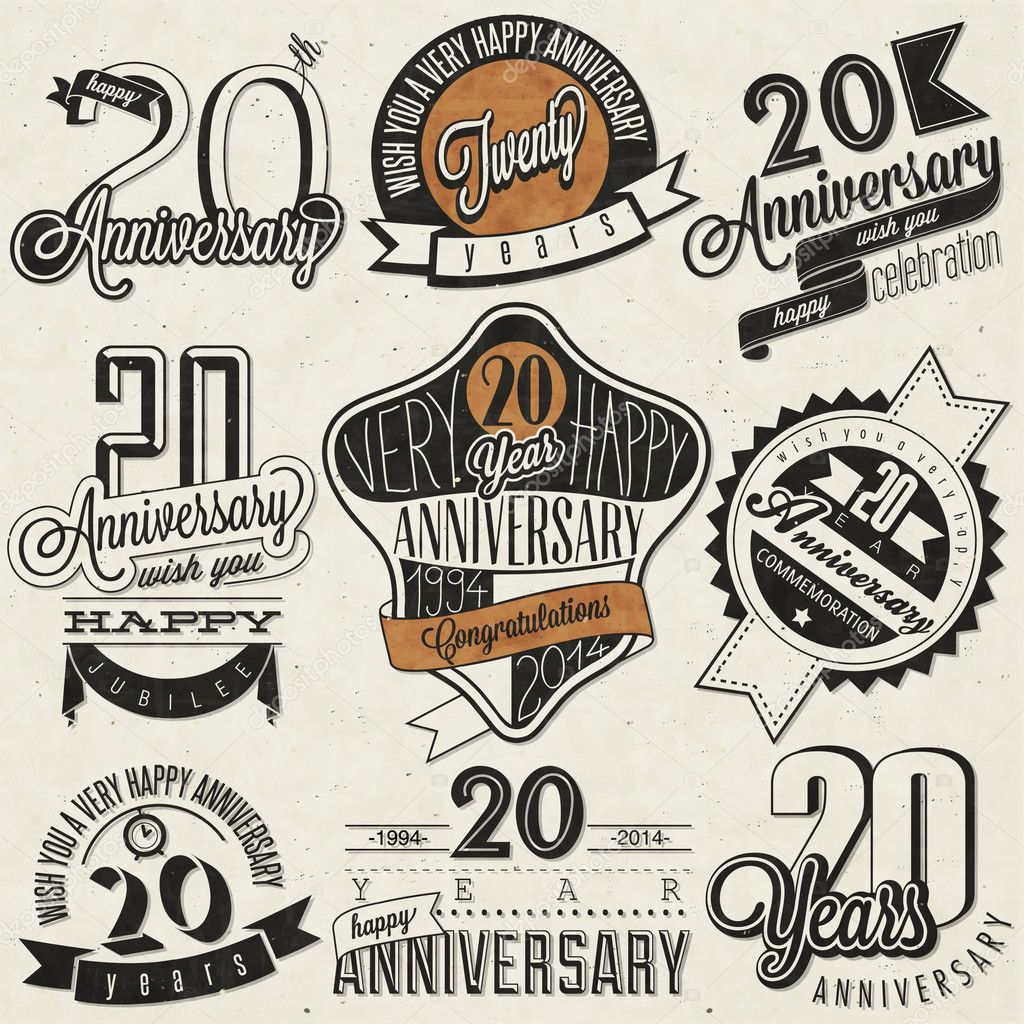 Vintage 20 anniversary collection.