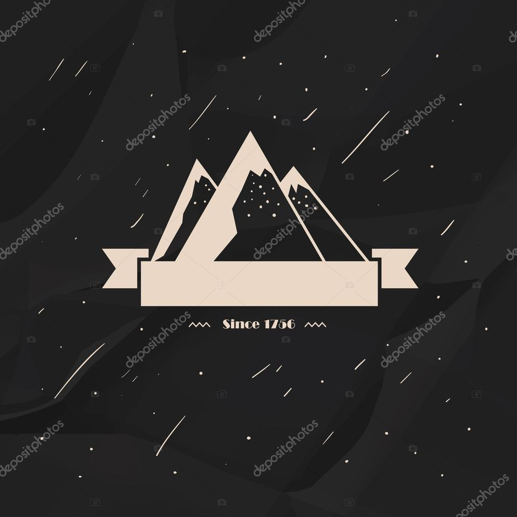 Label  high snow-capped mountains