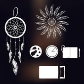 Fotografie Set of icons on a theme of lucid dream and deep sleep
