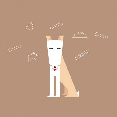 Dog in a flat style.