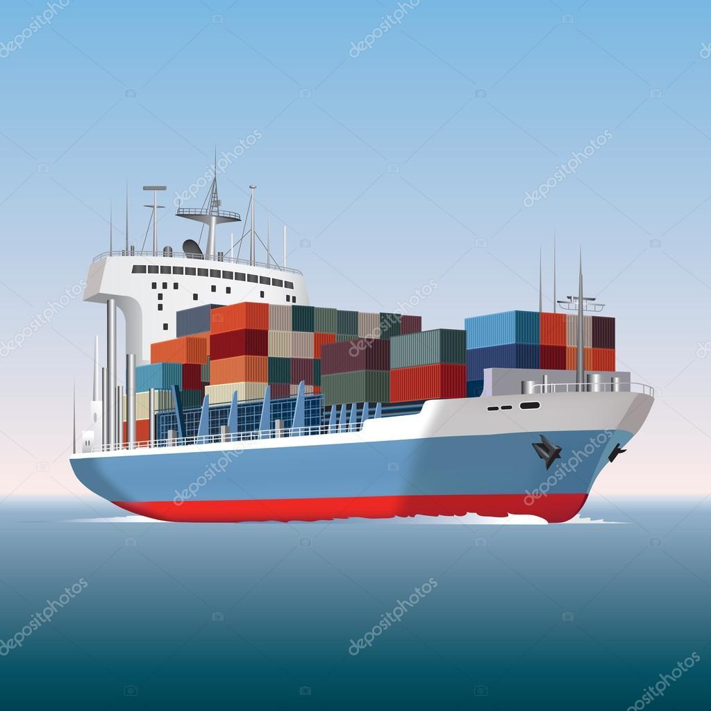Barco contenedores archivo im genes vectoriales route55 48472249 - Contenedores de barco ...