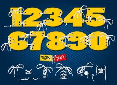 Vector  numbers in form of sport footwear