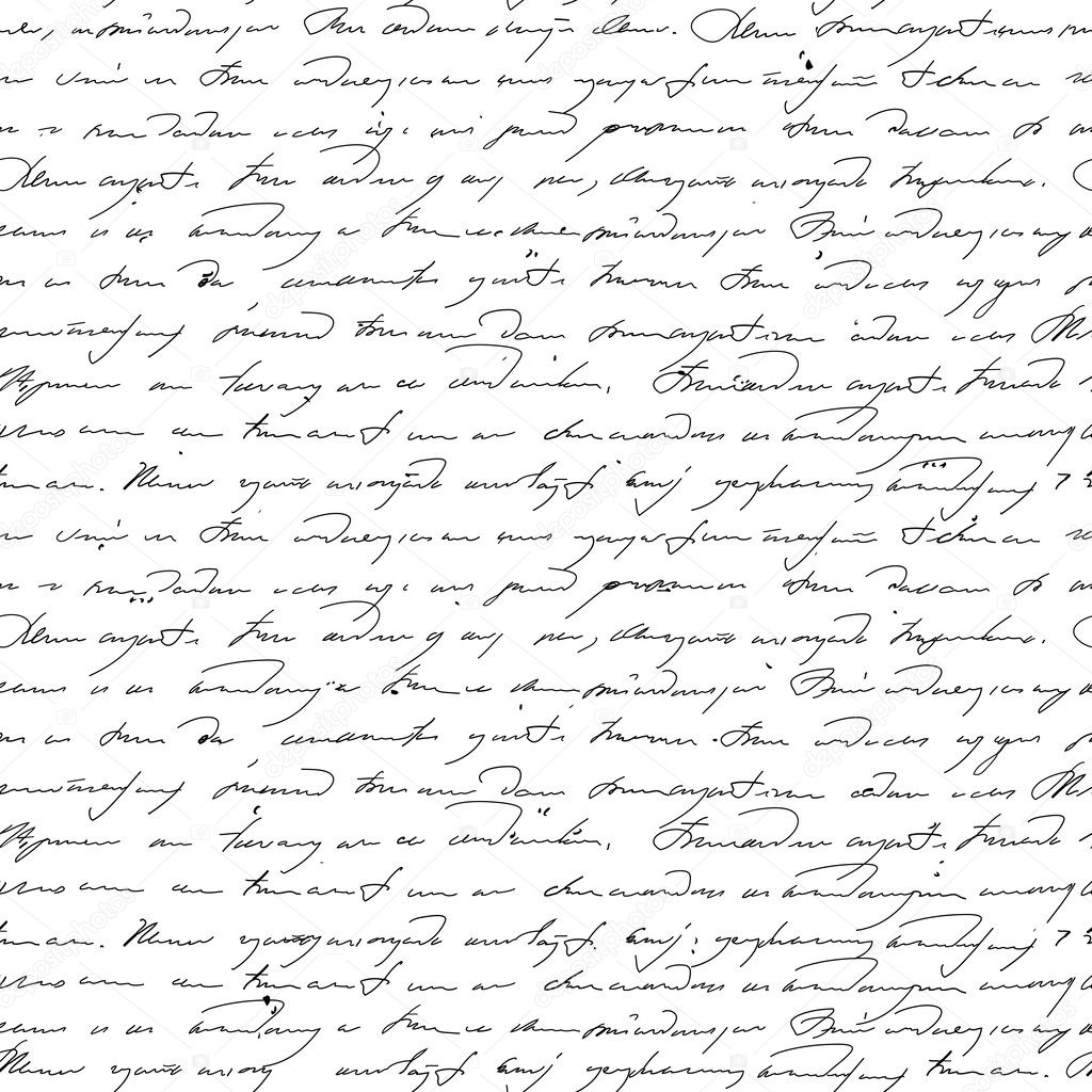 handwriting text in vintage style.