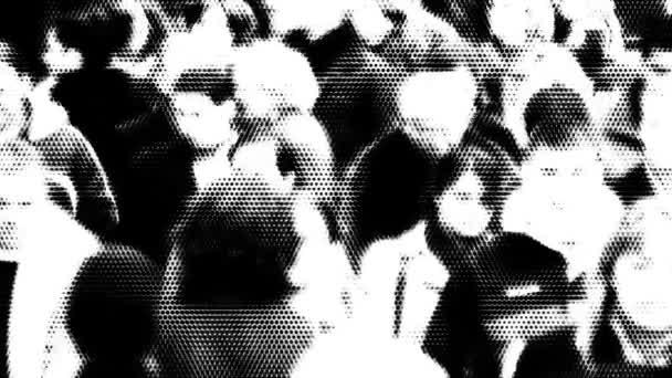 dav lidí, kteří jdou