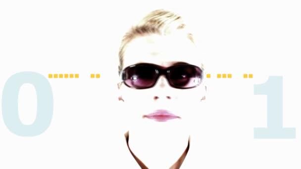 Fondo Delante Gafas Mujer Sol Llevaba Que Un Animación De 3A4RLq5j
