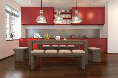 3D - modern kitchen 02