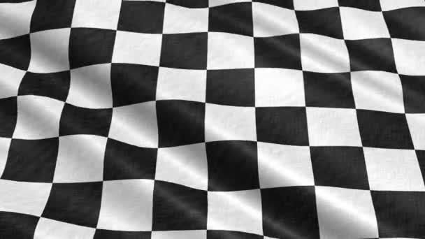 bandiera a scacchi nel vento