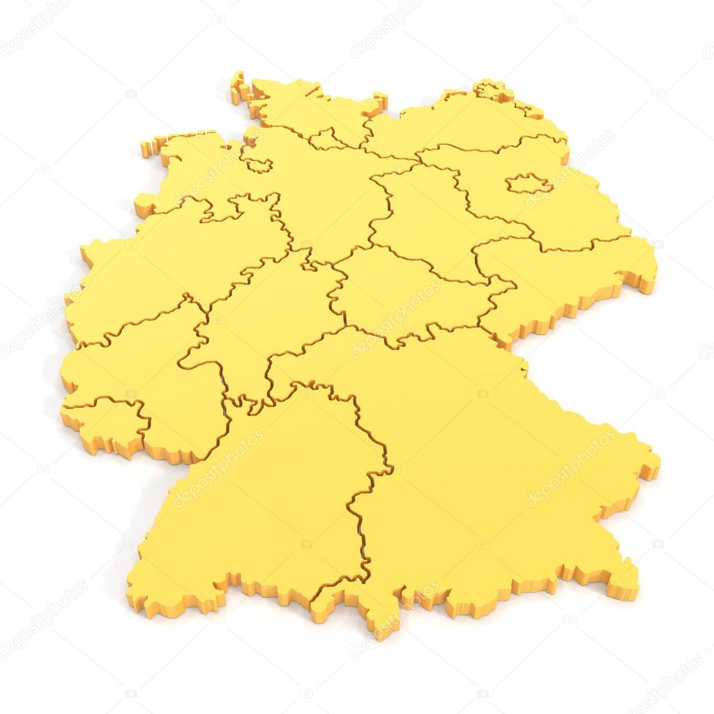 Map Of Germany 3d.3d Map Of Germany In Yellow Stock Photo C Marog Pixcells 51694633