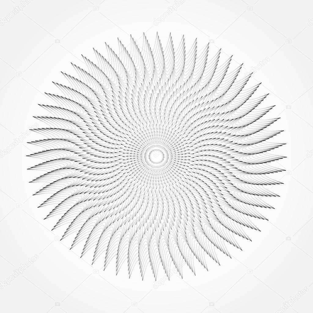 抽象的な渦線テクスチャ背景。ベ...