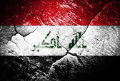 Fotografie Irak, Flagge, Flagge des Irak, Krieg, Konflikt, getragen, gehärtet