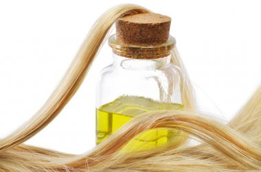 Hair and oil bottle