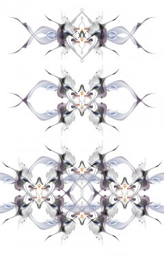 Abstract winter pattern in the Art Nouveau style