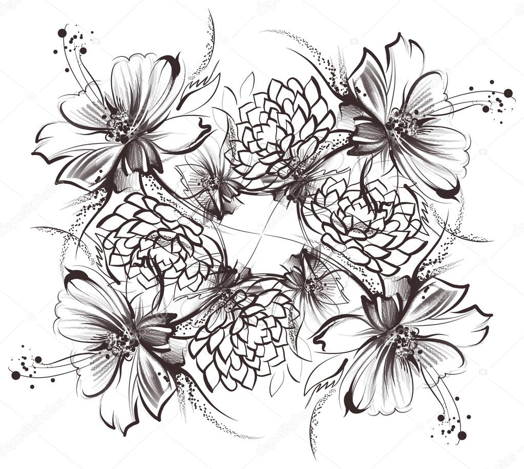 Dibujos Margarita Dibujo A Lapiz Flores Dibujo Con Simple Lápiz