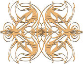 Fotografie Mandala. Decorative round beige lace pattern, vintage ornament