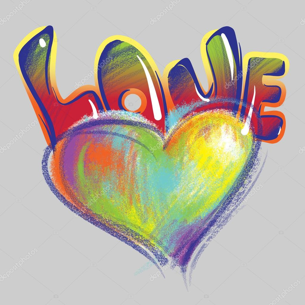 Recuerda el dibujo del niño en la calle graffiti en estilo grunge boda día de san valentín dibujos la palabra amor en graffiti foto de