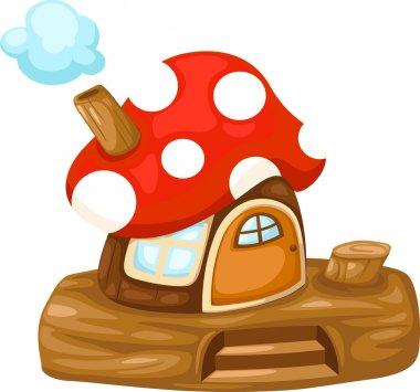 Illustration of isolated fantasy Mushroom house vector stock vector