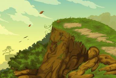 Beautiful Landscape Background illustration stock vector