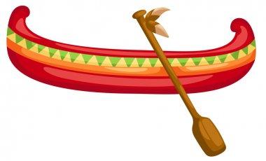 Canoe with Paddle