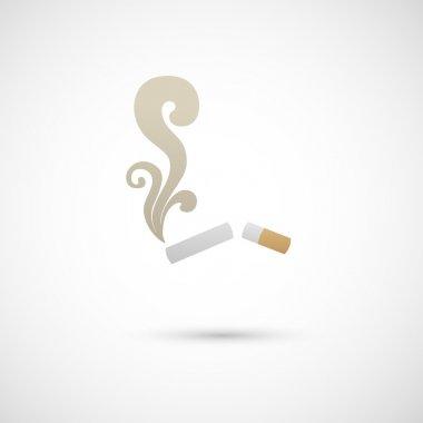 Cigarette and smoke icon