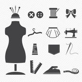 Fotografie Sewing equipment icons