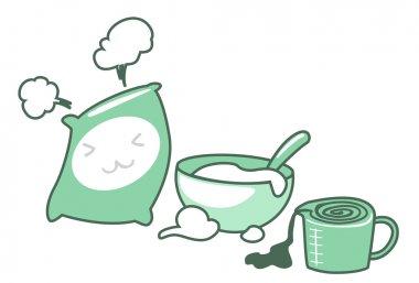 Baking icons set illustration