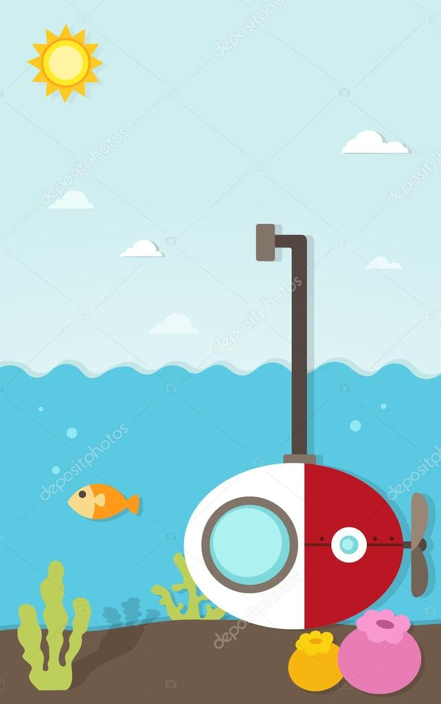 Submarine under the sea paper