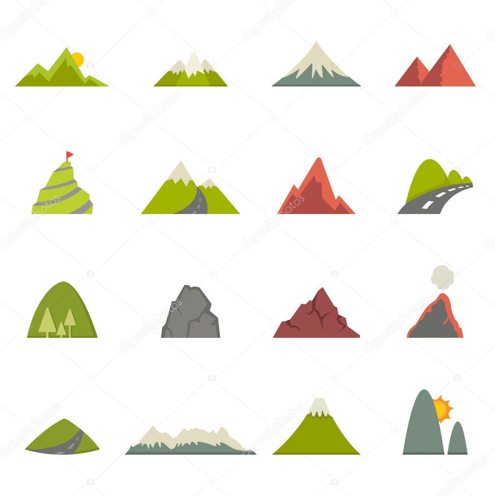 Mountain icons vector eps10