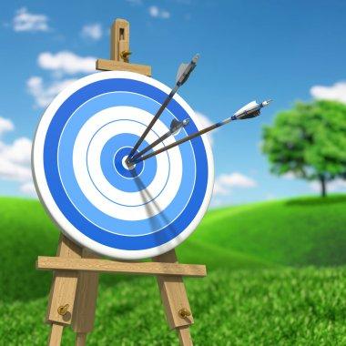 Three arrows on target