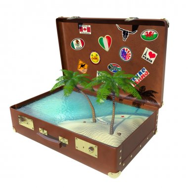Tropical trip suitcase