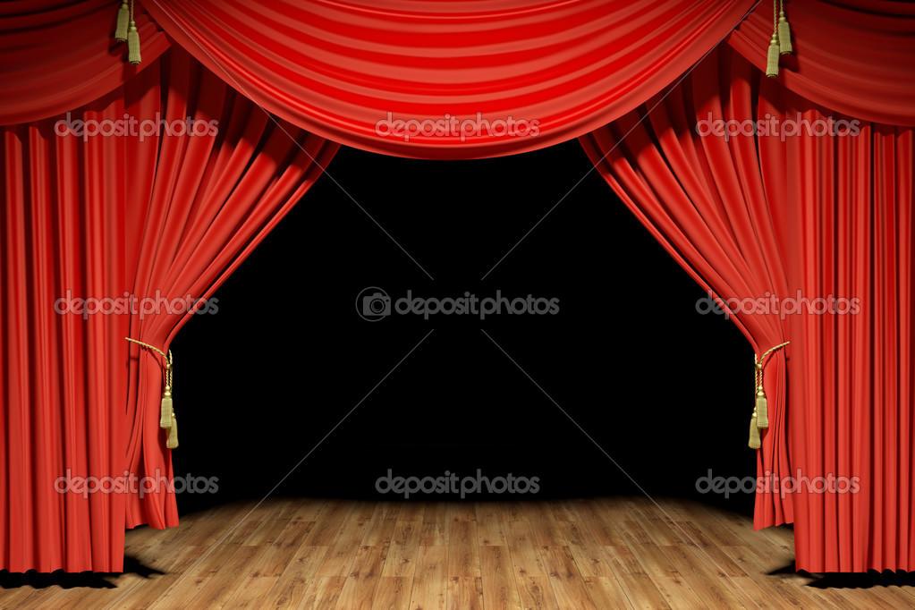 Rideaux De Velours Rouge Scène Théâtre Photographie Beawolf