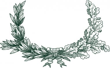 Laurel and oak branches
