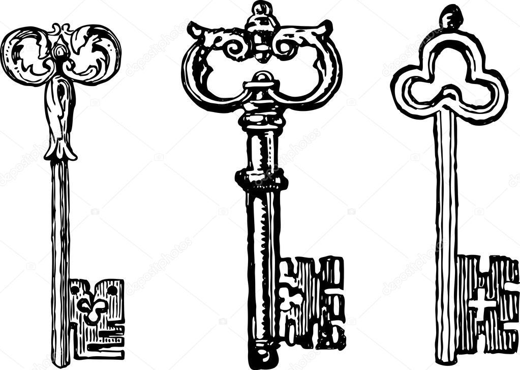 Llaves antiguas vector de stock chronicler101 43423321 for Llaves de bano antiguas