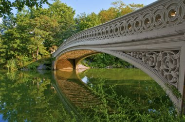 Bow Bridge and Pond, Central Park, Manhattan New York