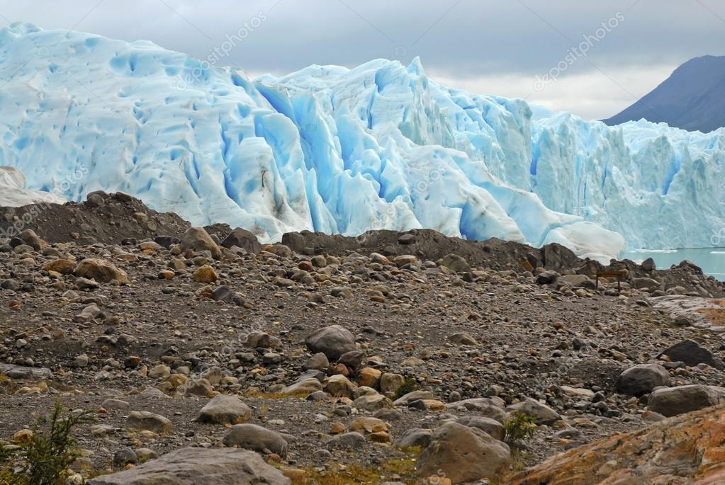 Where Glacier meets the land, Patagonia, Argentina
