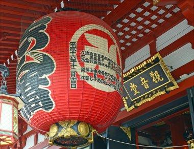 Chochin Detail, Sensoji Temple in Asakusa, Tokyo, Japan