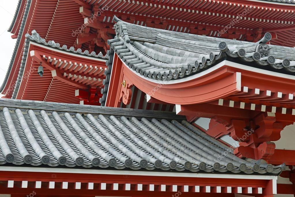 architettura tradizionale giapponese al tempio di sensoji