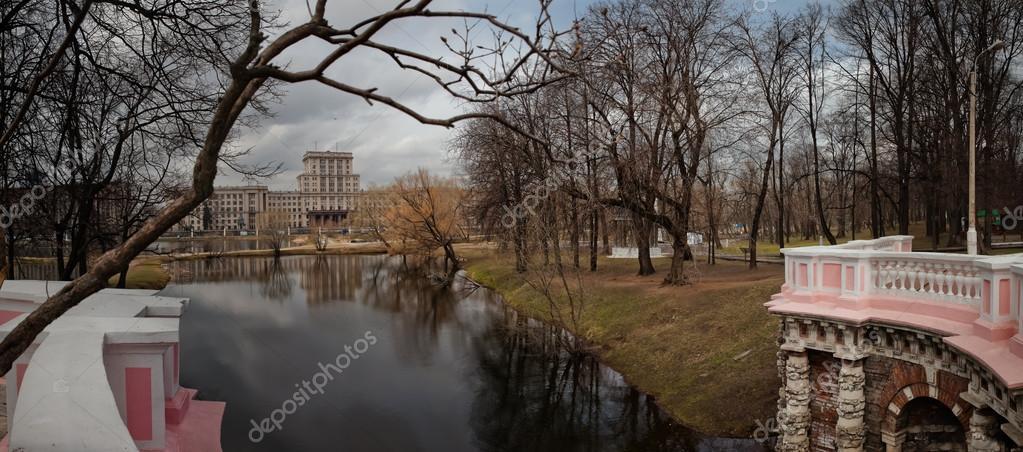 Lefortovo Park. Ponds. Moscow. Russia