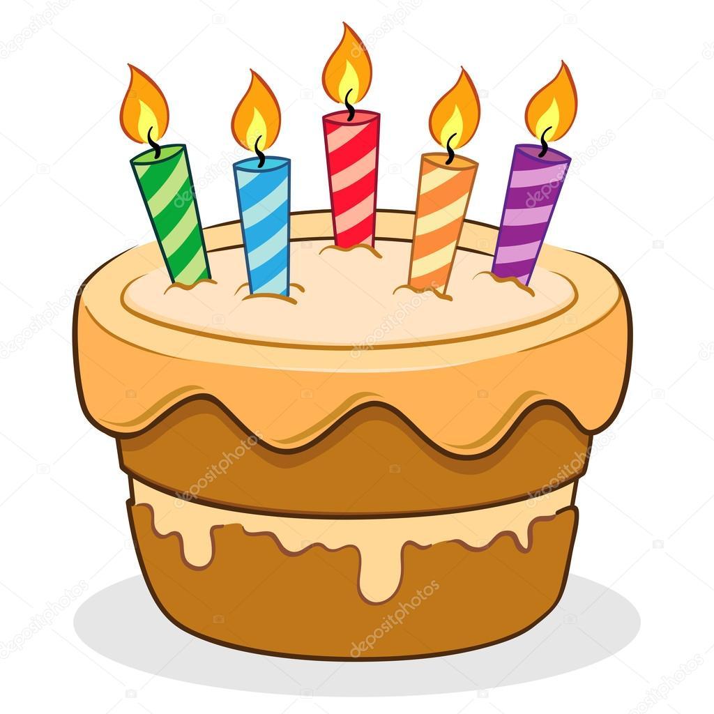 Birthday Cake Vector Cartoon Illustration Stock Vector C Yusak P