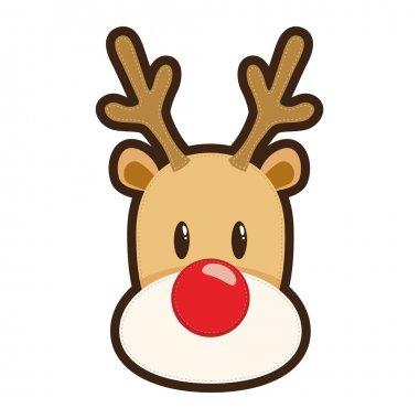 Rudolf Red Nosed Reindeer Face