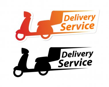Motorcycle Delivery Service Label
