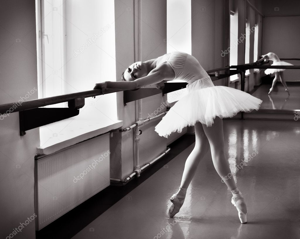 Ballerina with the reflection