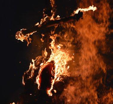 Cross in fire
