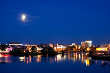 Minsk (historical center) at night