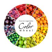 Obst und Gemüse-Farbrad