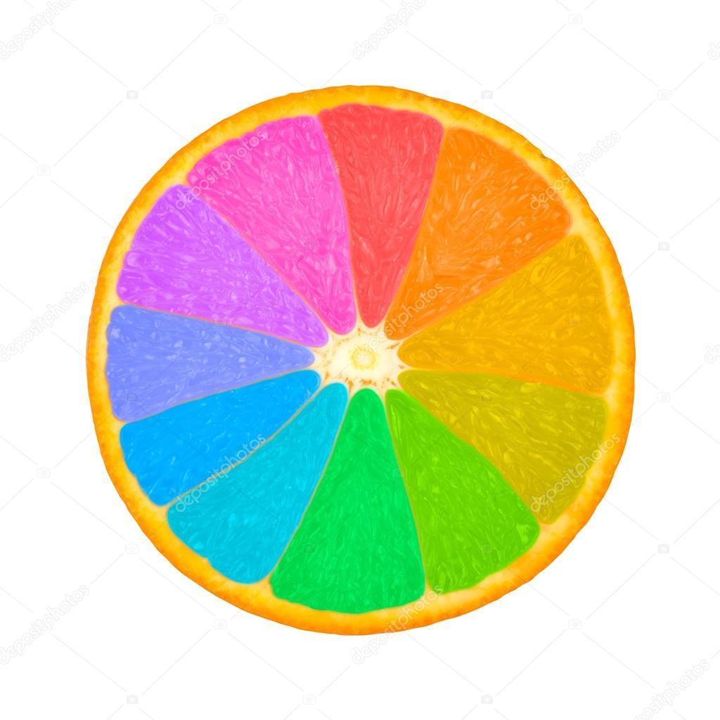 Orange Slice As Color Wheel Stock Photo C Mvw Tut By 48195073