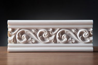 White stucco moulding