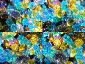 Barevné dekorační kameny