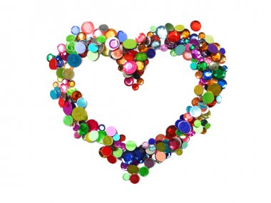 Heart from colorful beads