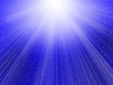 Light on blue background